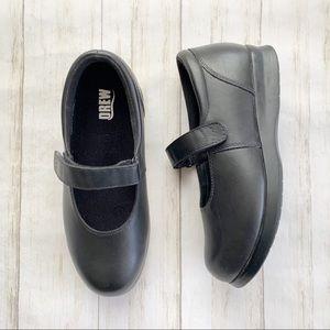 Drew Bloom II Black Leather Mary Jane Comfort Shoe